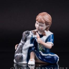 Девочка с кроликом, Royal Copenhagen, Дания