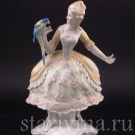 Дама с попугаем, Karl Ens, Германия, 1920-30 гг