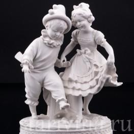 Мальчик Арлекин и девочка, Volkstedt, Германия, кон. 19 в