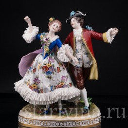 Танцующая пара, кружевная, Volkstedt, Германия, вт. пол. 20 в
