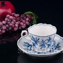 Чайная пара, Луковичный узор, Meissen, Германия, сер. 20 в