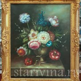 Картина маслом Натюрморт в голландском стиле, , сер. 20 в.