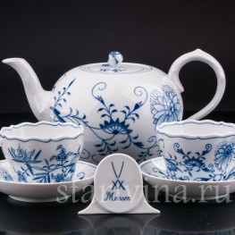 Две чайных пары и чайник, Meissen, Германия, вт. пол. 20 в