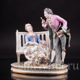 Композиция из фарфора Лорнет, Porcelaine de Paris, Франция, 19 в.